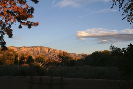 Corrales, Nuevo Mexico: Sunset in the Cortyard