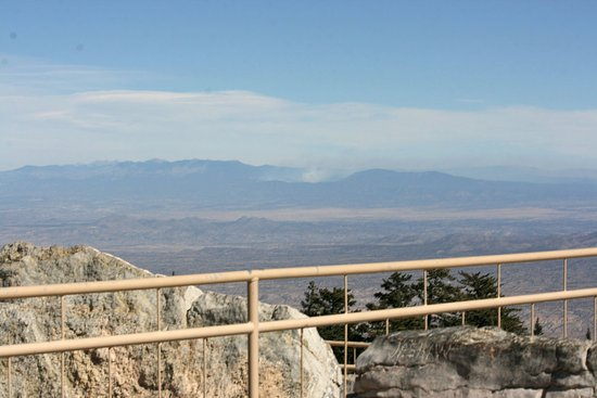 Sandia Park, NM: View From The Top - Fire in the Distance
