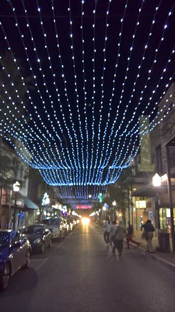 Dauphin street lit up