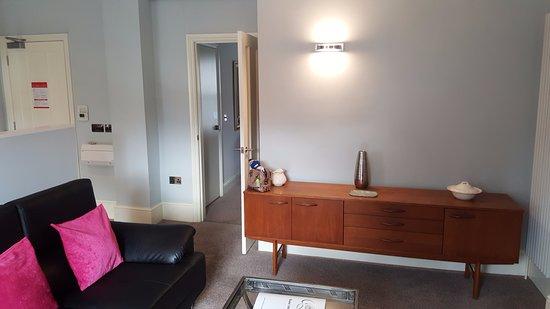 Easedale House: lounge towards bedroom door