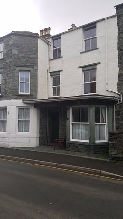 Easedale House: Kingfisher is the two windows at first floor, above the entrance & flat roof