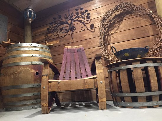 Wine Country Craft: A snippet of our wine barrel furniture in store. All made on site in our workshop.