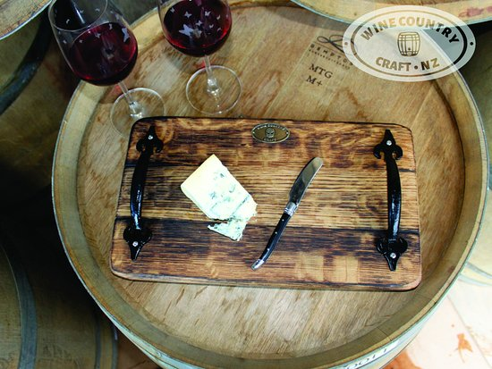 Wine Country Craft: A rustic platter crafted from Wine Barrel Oak.