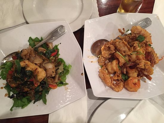 Lotus of Siam: sea bass & garlic shrimp