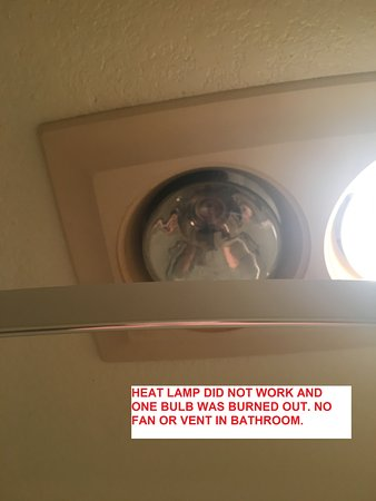 Deluxe King Suite Bathroom Heat Lamp Heat Lamp Didn T Work One