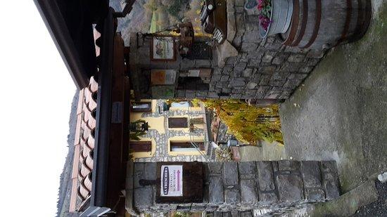 Parzanica, Italia: Il locale all'esterno e all'interno con camino.