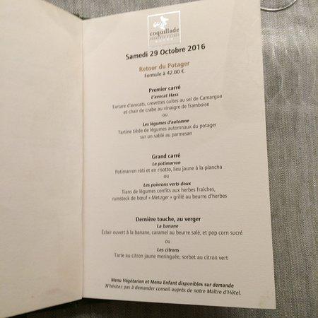Gargas, Frankrike: menu du 29 oct 2016