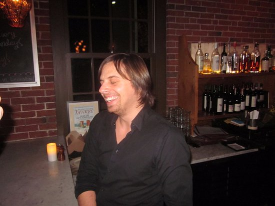 Belmont, MA: our bartender !!