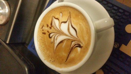 Palmer, Porto Rico: Cafe Latte, Brownie con Mantecado.