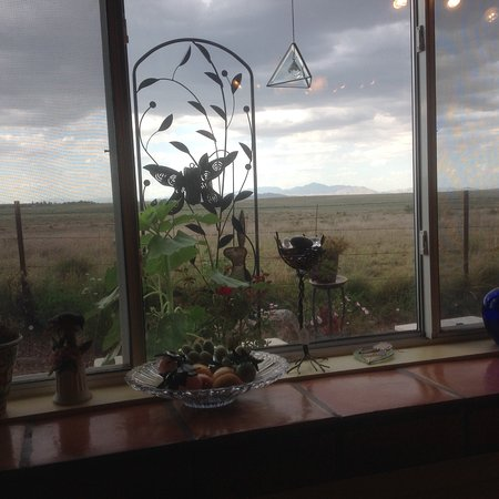 Sonoita, AZ: View to garden and empire ranch.