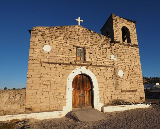 Creel, Mexico: Early morning light hitting the Mission Church at San Ignacio built by Jesuit Priests.