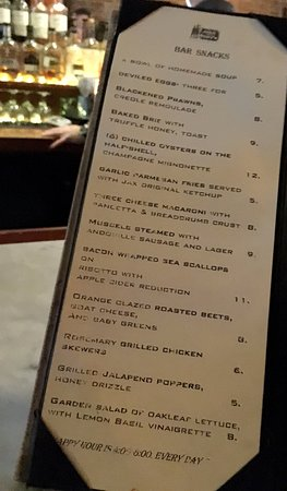 Jack and Tony's: MENU