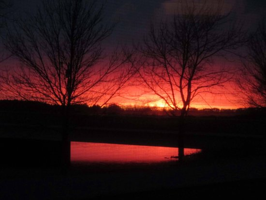 Tomahawk, WI : Sunset from our window looking over the 4th Street Bridge