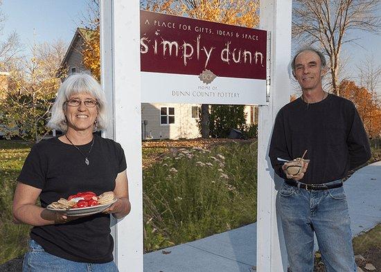 Your hosts, Kathy Ruggles and John Thomas at Simply Dunn