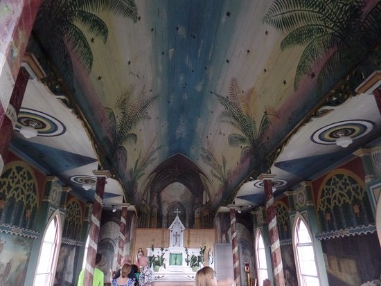 Honaunau, Гавайи: Foto Interna Painted Church