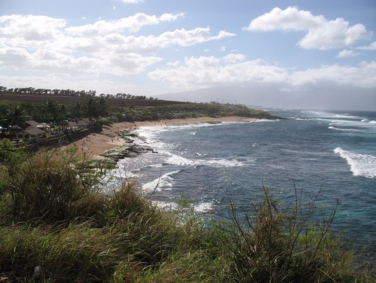 Paia, Hawái: A view of the beach from the lookout area