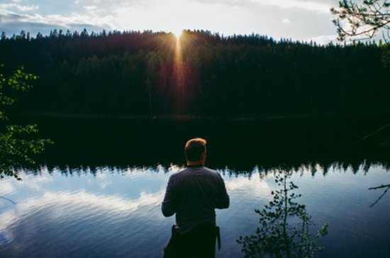 Kouvola, Finlandia: Sunset at Repovesi National Park