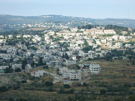 Distrikt Jerusalem, Israel: Zicht vanaf de stadsmuur Jeruzalem