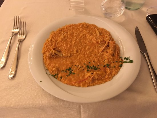 Villa Adriana, Italy: Seafood risotto with shellfish sauce. Delicious!