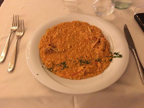 Villa Adriana, Italien: Seafood risotto with shellfish sauce. Delicious!