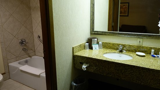 BEST WESTERN Holiday Hotel: bathroom was quite enough for a family of 3