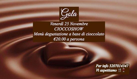 Canicatti, Italien: Menù degustazione  Cioccoshow  #cioccolatoèsalute  #gola