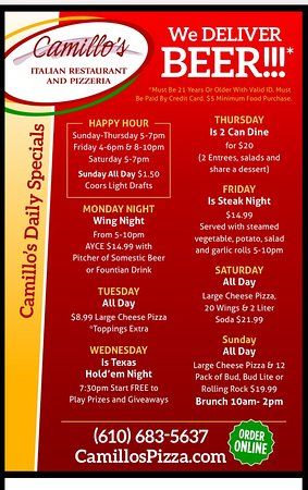 Kutztown, Pennsylvanie : Daily Specials