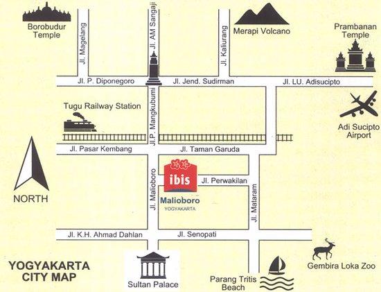 map - Picture of Hotel Ibis Yogyakarta Malioboro, Yogyakarta ...