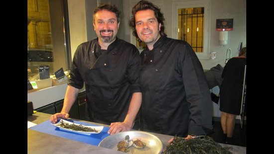 Loches, France: Florent & Vincent, propriétaires de L''Oyster Bar.