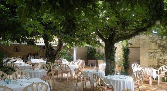 Saint-Macaire, France: La terrasse de l'Abricotier..