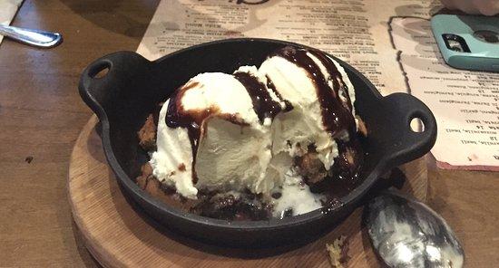 Clarksboro, NJ: Chocolate chip cookie skillet dessert!