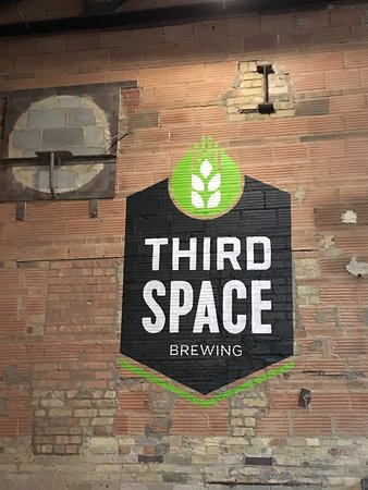 Inside the tap room of Third Space Brewing