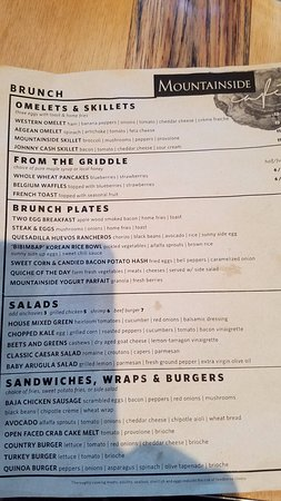 Falls Village, CT: Mountainside Cafe Brunch Menu