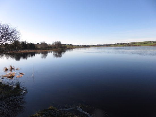 Kinross, UK: ice on the water