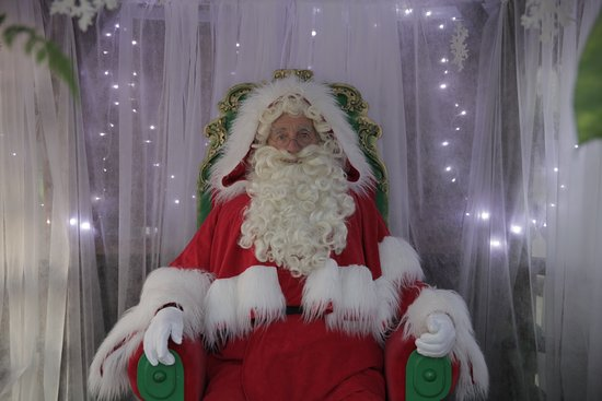 Haverfordwest, UK: Father Christmas at Hilton Court, Pembrokeshire