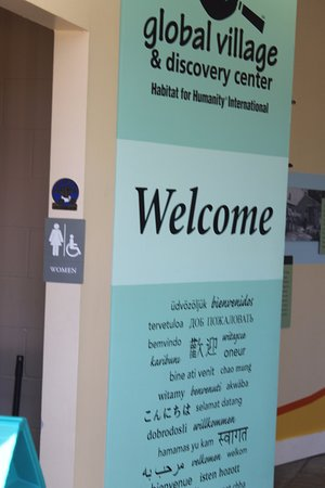 Americus, Géorgie : More information in the other side of the welcome center, bathroom areas.