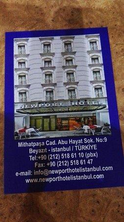 Newport hotel merkeze yakın ulaşım her yerden çok kolay ve güler yüzlülük