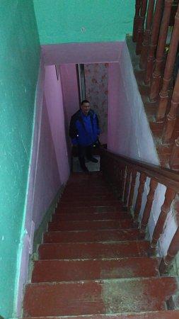 Hostel Green Stairs: Лестница на этаж. Довольно крутая.