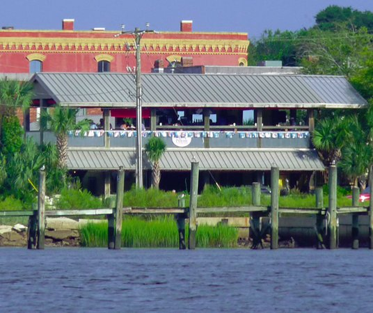 The Salty Pelican Bar Grill Seen From Amelia River