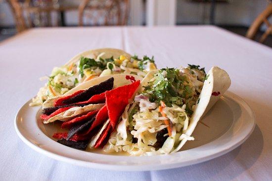 Bigfork, Μοντάνα: Our famous pan seared Ahi fish tacos
