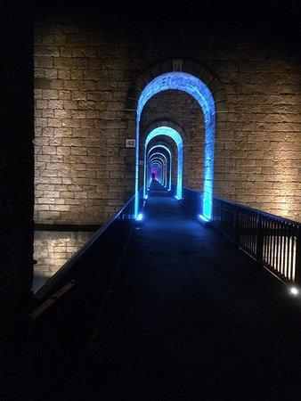 Chaumont, Francia: A voir, majestueux; effectivement la nuit l'éclairage est un vrai plus qui surprend