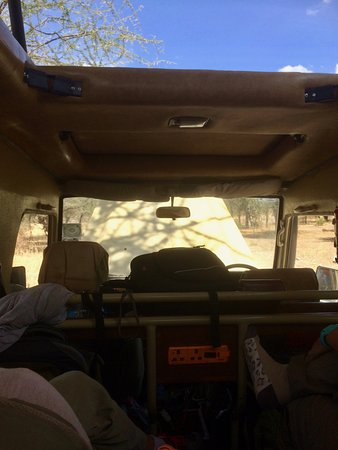 Big Time Safari Camp: Our view for much of the trip.