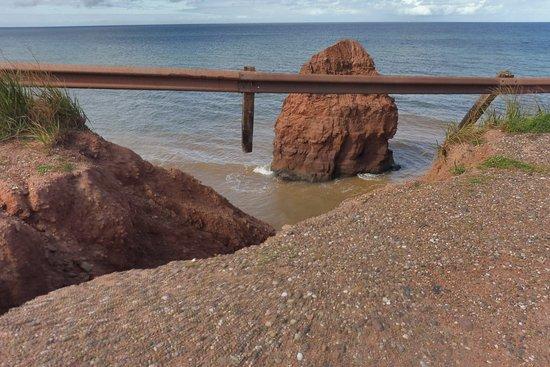 Tignish, Canada: Coastal erosion
