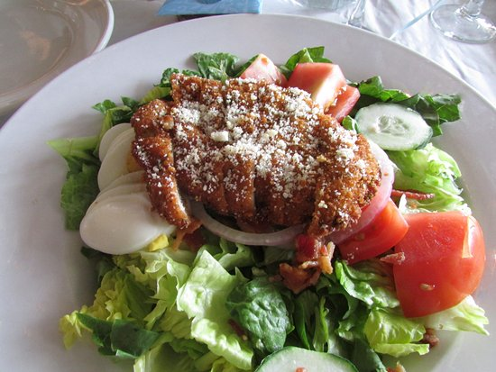 Jeannette, PA: The delicious romano-crusted chicken salad.