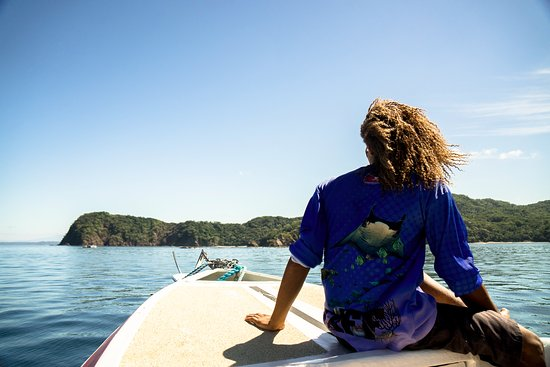 Playa Hermosa, Costa Rica: Kadir on the boat to our 2nd dive spot