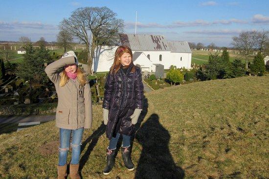 Jelling, Denmark: Udsigt fra Sydhøjen