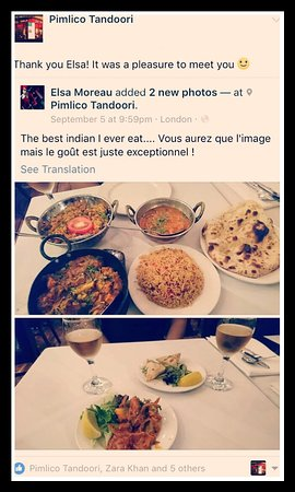 pimlico tandoori thank you elsa