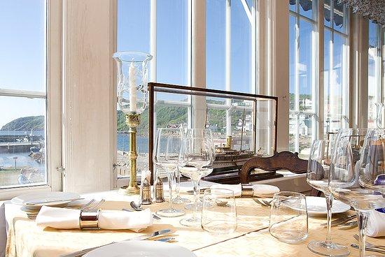 Molle, สวีเดน: Utsikt från Hotel Kullabergs vackra á la carte-matsal