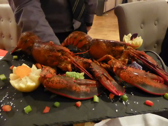 Pierrefeu-du-Var, France: présentation du homard