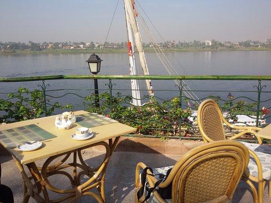 Steigenberger Nile Palace Luxor: Taking coffee in wonderful spot